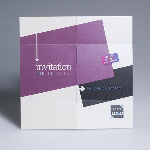 Carte d'invitation entreprise - INFINITY